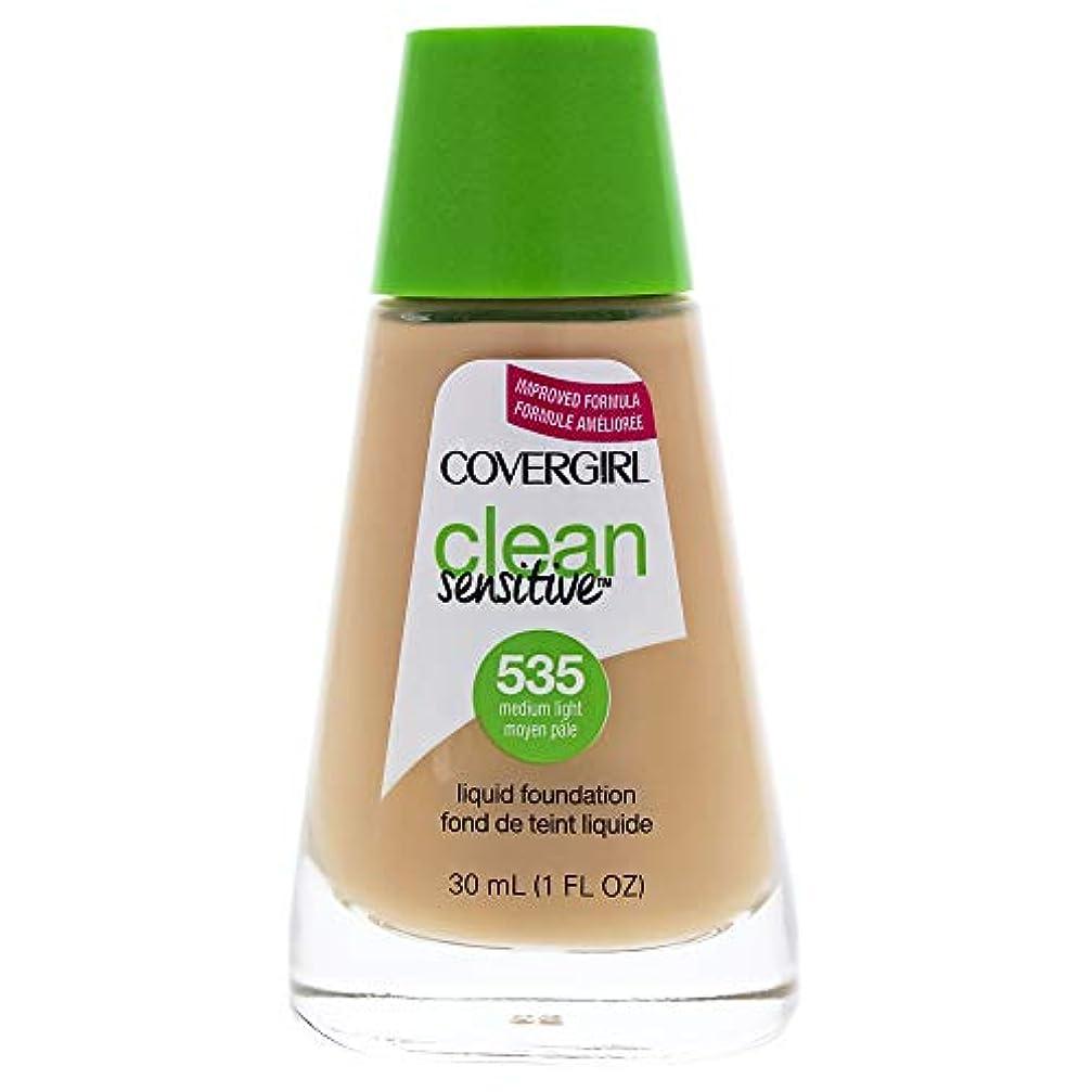 社交的人物の面ではClean Sensitive Liquid Foundation - # 535 Medium Light