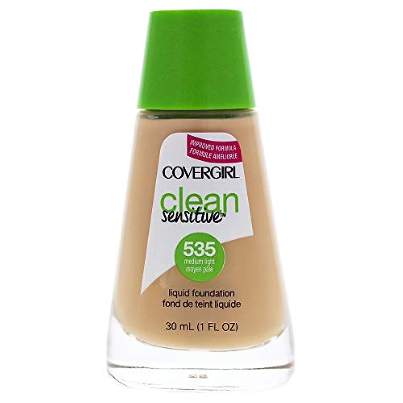 助手普通の後方Clean Sensitive Liquid Foundation - # 535 Medium Light