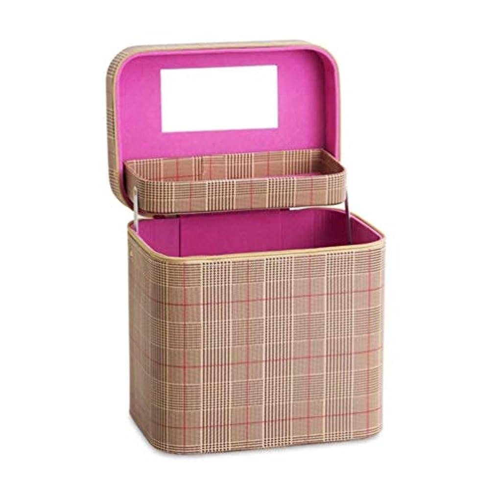 虫ホームレス支配的SZTulip コスメボックス メイクボックス 大容量メイクケース 化粧品収納ケース 小物入れ 鏡付き 化粧箱 (コーヒー)