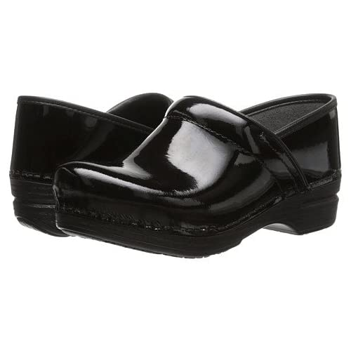 (ダンスコ)Dansko レディースクロッグズ・ミュール・スライド・靴 Pro XP Black Patent US Women's 7.5-8 24-24.5cm Wide [並行輸入品]