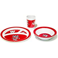 NCAA ウィスコンシンバジャーズ 子供用食器セット 3点セット ワンサイズ チームカラー