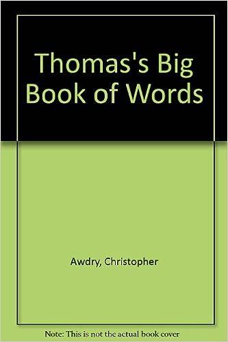 amazon thomas s big book of words christopher awdry