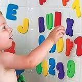 Heyeai Bath Toys, Bathtub Sticker Floating Letters, (26 Letters A-Z; 10 Numbers 0-9) Kids Bath Toys Baby Bathroom Alphabet To