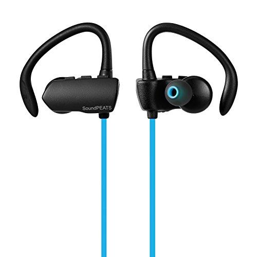 〔5色展開〕SoundPEATS サウンドピーツ Bluetooth イヤホン 高音質 apt-X (iPhone,iPad,iPod)高音質コーデック対応 低遅延 外れにくい 耳掛け式 Bluetooth 4.1 + CSR社チップ採用 IPX4防水 IP4X防塵 スポーツイヤホン マイク付き ハンズフリー通話 CVC6.0ノイズキャンセリング 音漏れ防止機能 ブルートゥース イヤホン ワイヤレス イヤホン Bluetooth ヘッドホン[メーカー直販 / 1年間保証]Q9A ブルー