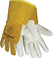 "John Tillman 1354L Tillman Large Yellow/White Cowhide Cut Resistant Gloves w/4"" Gauntlet Cuff,Kevlar?Sock Liner/White Cowhide Coating On Palm/Fingers,English,15.34 fl. oz,Plastic,1 x 1 x 1 [並行輸入品]"