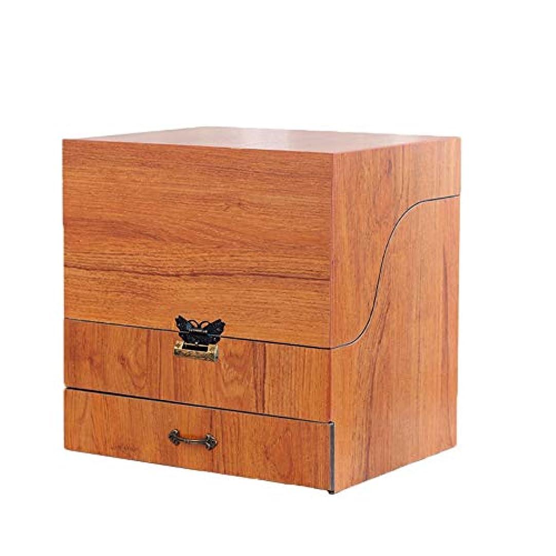 遺産軽減保持メイクボックス コスメボックス ジュエリー収納ボックス 鏡付き 大容量 木製 化粧品収納 ジュエリー収納 小物入り おしゃれ 可愛い ホワイト コルク ピンク プレゼント