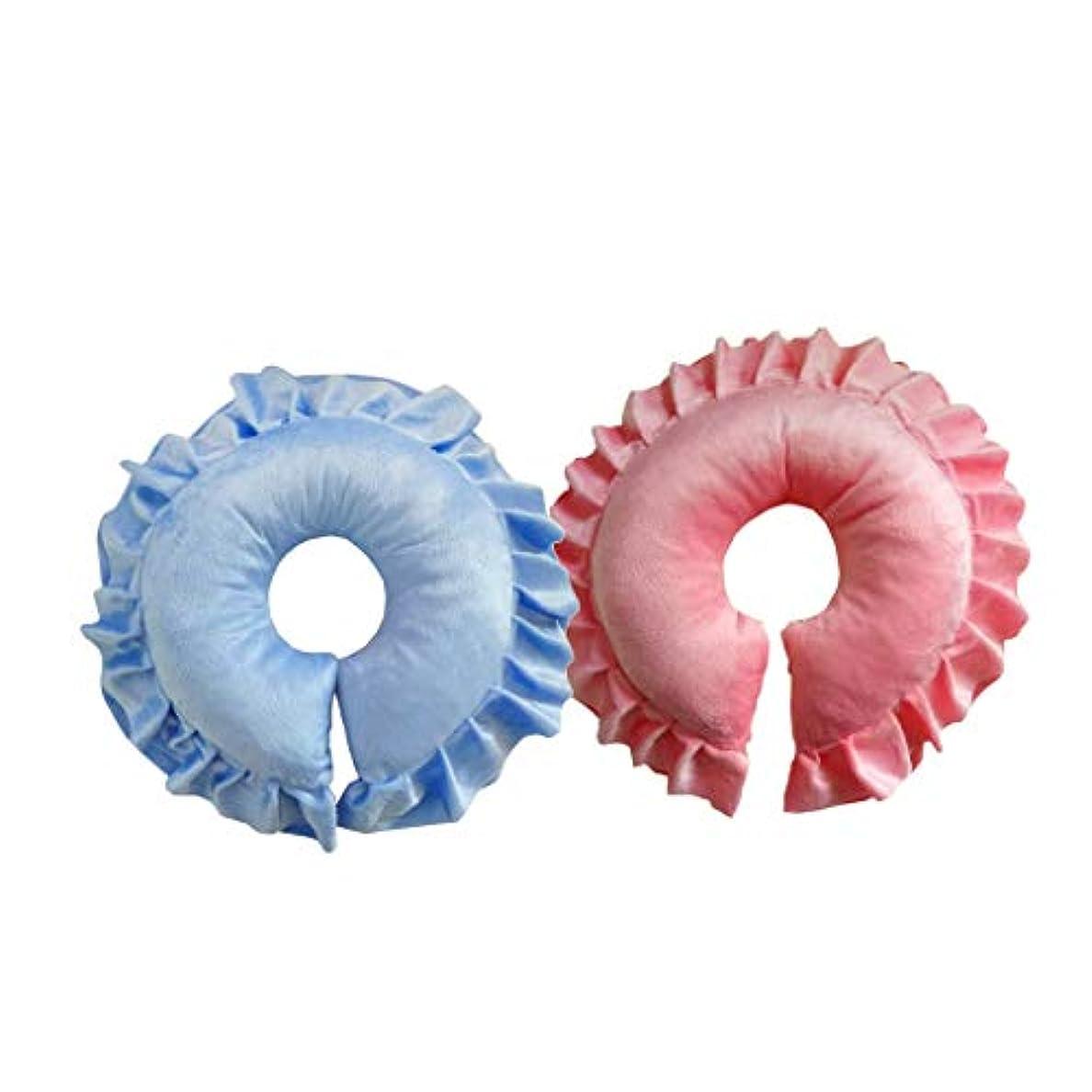 線寛大な純正dailymall ブルー&ピンクスパマッサージクロスフェイスリラックスクッションピローイージークリーン