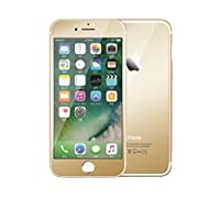 YATATECH iPhone 7 (4.7インチ)(両面セット) ガラスフィルム 液晶保護フィルム 強化ガラスフィルム 防指紋 超高級感 光沢 超薄鏡面 ミラー オシャレ 防塵 アイフォン 7専用ガラスフィルム(前後両面テープ各1枚) (ゴールド)