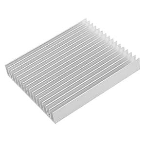 SODIAL(R)ヒートシンク アルミニウム シルバートーン 120x100x18mm
