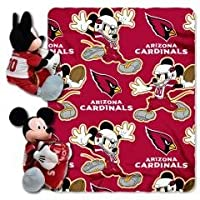 "Arizona Cardinals 40 "" x50 ""ディズニーミッキーマウスベビー乳児Hugger w / Fleece Throw Blanket ( NFL )"