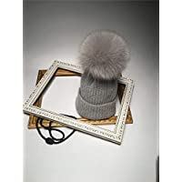 Autumn and Winter Ball Line Hat Ladies Hat Outdoor Cold Warm Children's Hat (Color : Grey, Size : All Code)