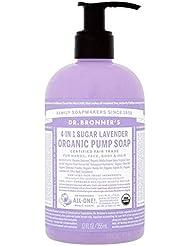 [Dr Bronner] Dr。ブロナーズ有機ポンプ液体石鹸ラベンダー355ミリリットル - Dr. Bronner's Organic Pump Liquid Soap Lavender 355ml [並行輸入品]