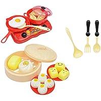 B Baosity 18個 子供のため キッチン 調理器具 教育おもちゃ 朝食 料理 ごっこ遊びプレイセット