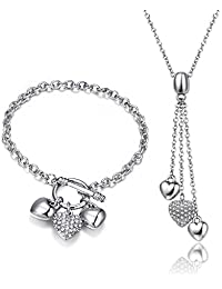 MESTIGE Sophia Charm Set with Crystals from Swarovski®, Love Heart, Gift