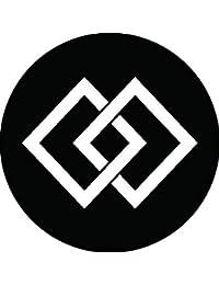 家紋シール 違い菱紋 布タイプ 直径40mm 6枚セット NS4-0055
