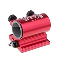 Fenteer 全2色 ロッド 竿ホルダー 傘竿 竿立て 固定ブラケット 釣りボックスに取り付け 頑丈  - 赤