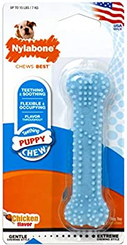 Nylabone NBP901P Chicken Puppy Bone Chew Toy, Petite Blue