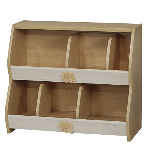 RoomClip商品情報 - 白井産業【SHIRAI】おもちゃ箱 整理棚 本箱 キッズ用 ランドキッズ ナチュラルブラウン 北欧テイスト 幅約82cm 高さ約70cm LAK-7080R