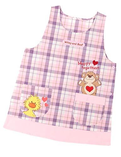 【392575 ピンクM-L】 エプロン 保育士 キャラクター スージーズー M-L LL-3L 大きいサイズ 保育園 幼稚園 卒園 プレゼント ピンク ミント
