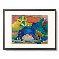 フランツ・マルク 「Blue horsey, children」 額装アート作品
