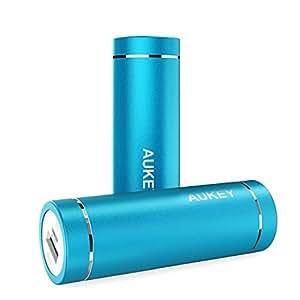 AUKEY モバイルバッテリー 5000mAh AiPower 小型 スマホ充電器 USB充電器 iPhone 7 / iPhone 7 Plus / iPhone6S / Samsung Galaxy / HUAWEI / Kindleなど各種他対応 PB-N37 (ブルー) [改善版]