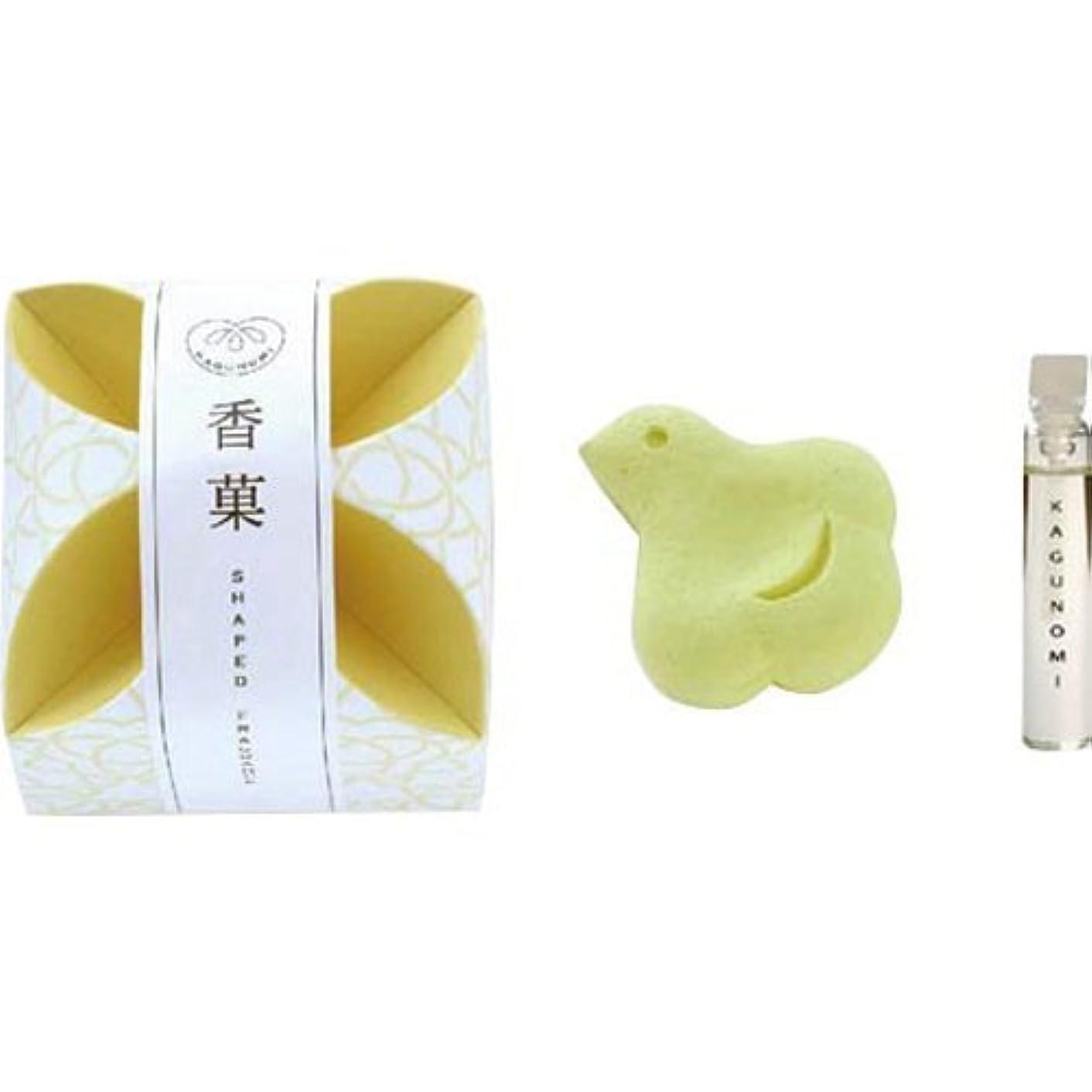 叙情的な浸す粘着性香菓 ちどり形(黄色)1入 オイル付