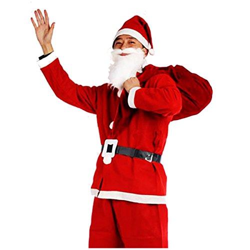 ROZZERMAN サンタクロース コスチューム 大人用 コスプレ 衣装 セット メンズ クリスマス パーティー 揃っています n132 (大人用セット)