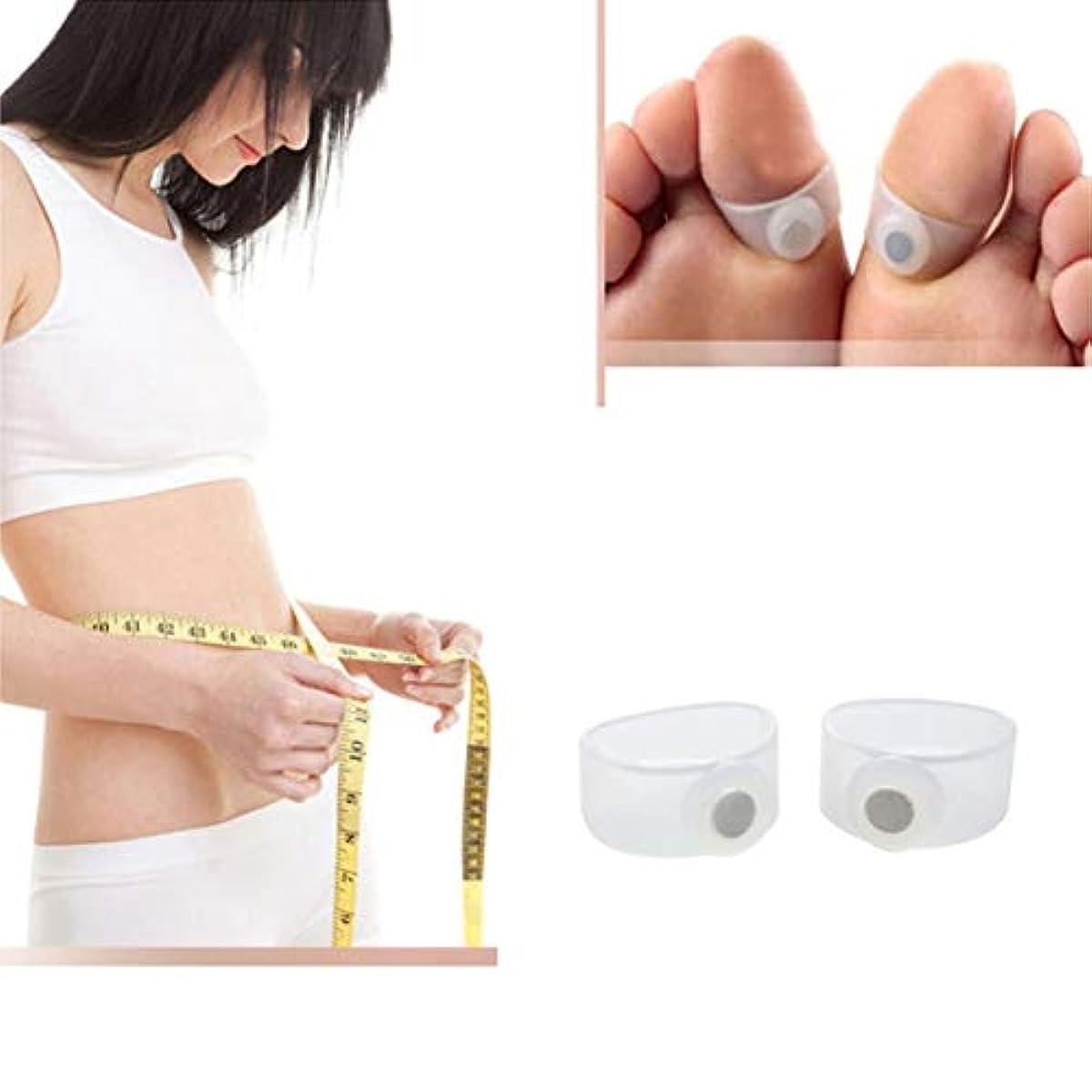 マトロン海外弁護士2PCS Slimming Silicon Magnetic Foot Massager Massge Relax Toe Ring for Weight Loss Health Care Tools Beauty Products