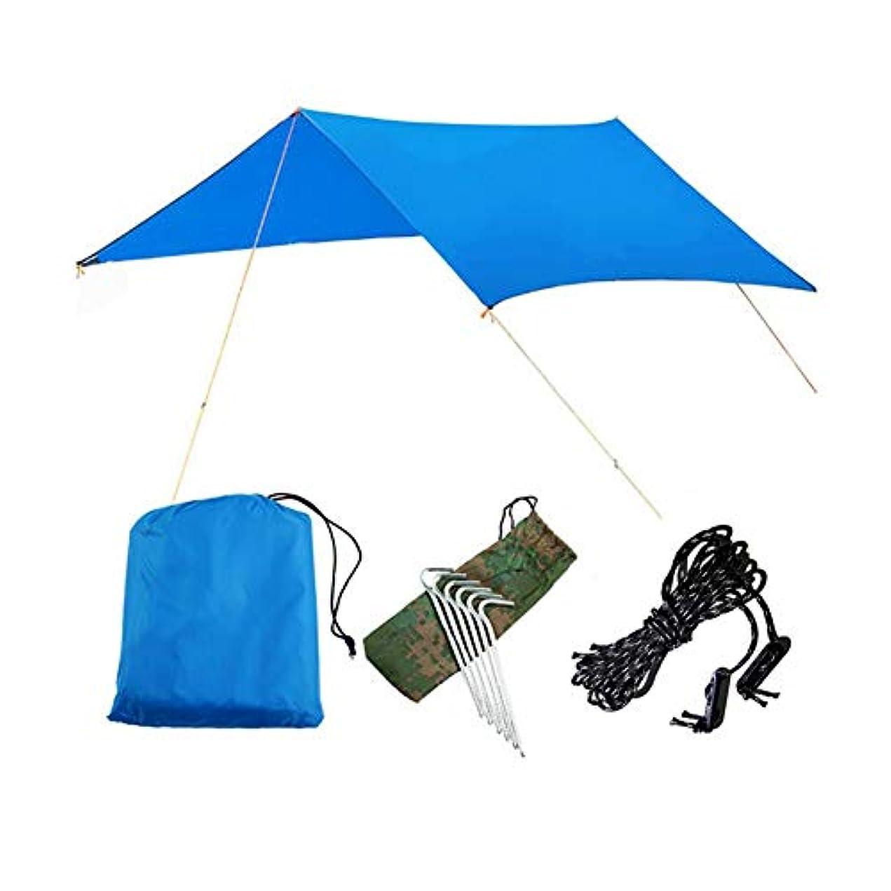ゴシップ禁止本質的にDOMO キャノピー アウトドア 簡易キャンプテント 多機能 屋外用マット 防湿パッド オーニング パーゴラ 防水 ビーチ キャンプ 300*300CM (3-4人)
