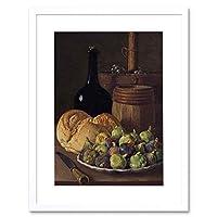 Painting Still Life Melendez Figs Bread Old Master Framed Wall Art Print