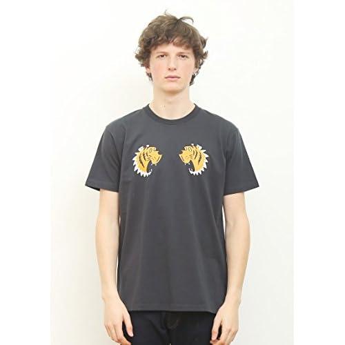 (グラニフ)graniph ベーシックTシャツ / タイガーグラフィック ( スミクロ ) S