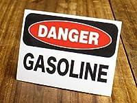 サイン&ラベルステッカー SIGNS & LABELS series 「危険、ガソリン」_SC-MD015-SXW
