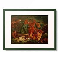アンゼルム・フォイエルバッハ Anselm Feuerbach (after Ferdinand Victor Eugene Delacroix ウジェーヌ・ドラクロワ) 「Dante and Vergil in Hell」 額装アート作品