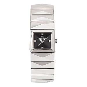 (フォリフォリ) FOLLI FOLLIE 時計 レディース WF1T009BDKXX ブレスレット バングル 腕時計 ウォッチ シルバー/ブラック[並行輸入品]
