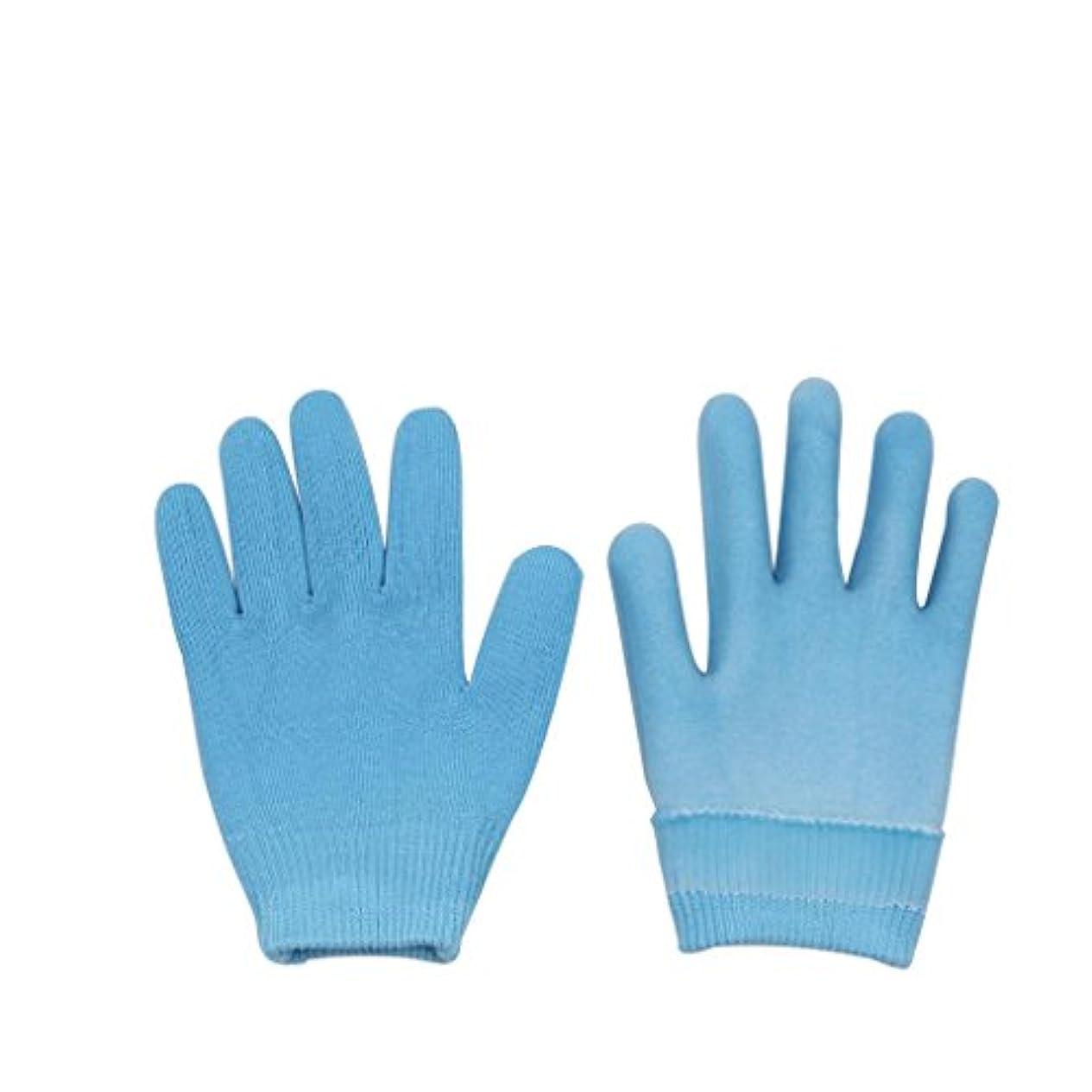 オピエートから聞くおんどりLovoski 保湿手袋 おやすみ手袋 手袋 手湿疹 乾燥防止 手荒れ 保湿 スキンケア  メンズ レディース 全3色選べ - ブルー