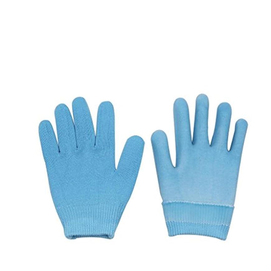 木材結晶風刺Lovoski 保湿手袋 おやすみ手袋 手袋 手湿疹 乾燥防止 手荒れ 保湿 スキンケア  メンズ レディース 全3色選べ - ブルー