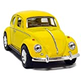 KiNSMART Yellow 1967 Classic Die Cast Volkwagen Beetle Toy with Pull Back Action [並行輸入品]