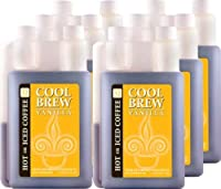 Cool Brew Fresh Coffee Concentrate - Vanilla 6x1 Liter- Make Iced or Hot Coffee - Makes over 200 drinks