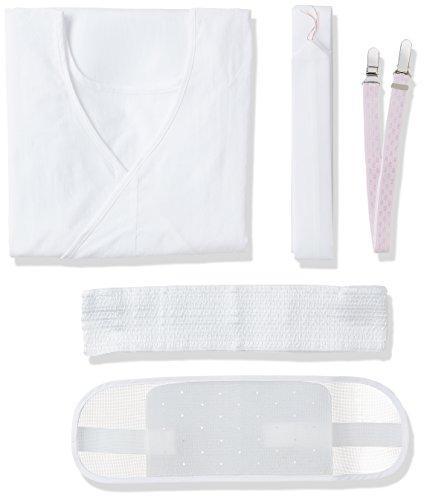 (キョウエツ) KYOETSU 着付けセット 浴衣用 和装小物5点セット (メッシュ夏前板/着付けベルト/肌着/絽腰紐/メッシュマジックベルト)