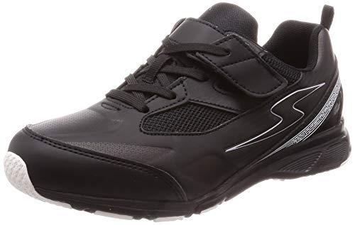 [スーパースター] 運動靴 通学履き 防水 マジック ゆったり キッズ SS J892 ブラック 20.5 cm 2E