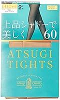 [アツギ] 60デニール アツギ タイツ (ATSUGI TIGHTS) 上品シャドーで美しく 60D〈2足組〉 レディース FP90162P シェリーベージュ 日本 M~L (日本サイズM-L相当)