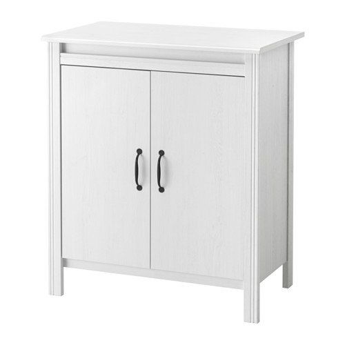 IKEA(イケア) BRUSALI キャビネット 扉付, ホワイト (40302294)