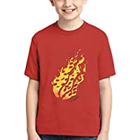 DLZZ Boys' Preston Fire Nation Playz Gamer Flame 3D Print Tie Dye T-Shirt Tees