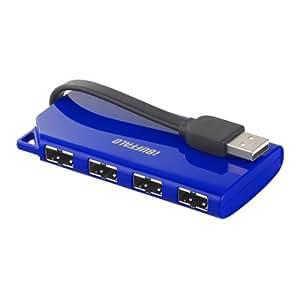 iBUFFALO USBハブ バスパワー 4ポート BSH4U17BL