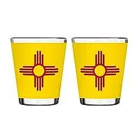 Boelter Brands アリゾナ州旗ショットグラス 2オンス 2個パック 2 oz イエロー 461449