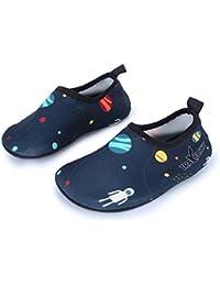 L-RUNJP マリンシューズ 子供用ウォーターシューズ 水陸両用 速乾 アクアシューズ シュノーケリング ビーチサンダル 旅行 携帯便利 海水浴靴 通気性いい 滑り止め