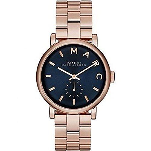 マークバイマークジェイコブス Marc by Marc Jacobs Baker Navy Dial Rose Gold-tone Steel Ladies Watch MBM3330 女性 レディース 腕時計 【並行輸入品】