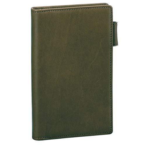ダ・ヴィンチグランデ オリーブレザー ジャストリフィルサイズ ポケットシステム手帳 リング8mm JDP3029 K [ネイビー]