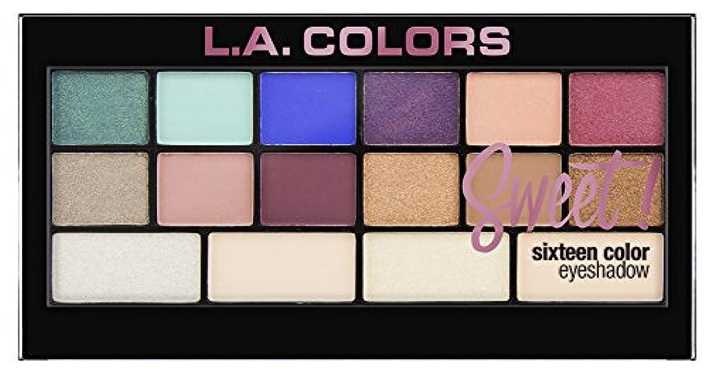 L.A. Colors Sweet! 16 Color Eyeshadow Palette - Playful (並行輸入品)