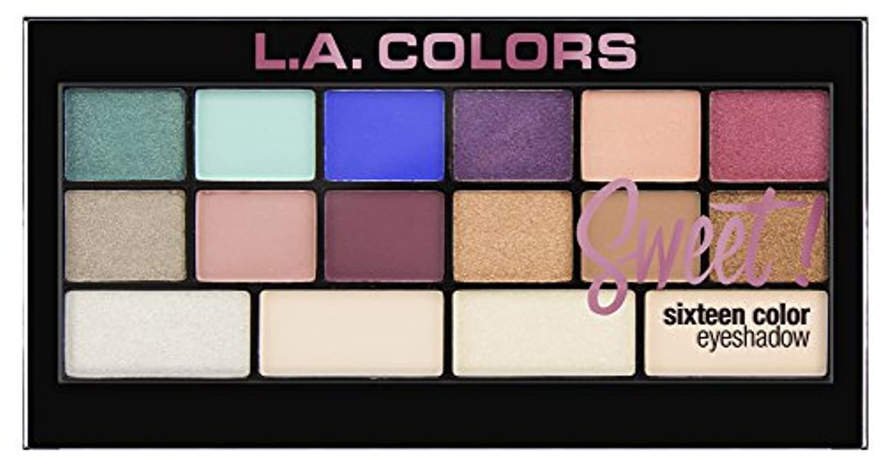 手首船員夢L.A. Colors Sweet! 16 Color Eyeshadow Palette - Playful (並行輸入品)